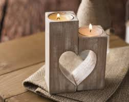wooden candle holder etsy