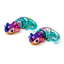 front and back earrings s rainbow metallic chameleon front and back earrings s