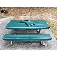 fitted picnic table covers amazon com embossed pattern stretch to fit 3 pc vinyl picnic table