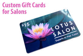 salon gift cards we offer custom plastic card printing for salons spas and more