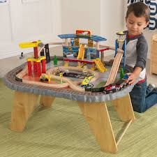 kidkraft transportation station train set u0026 table 17564 pirum