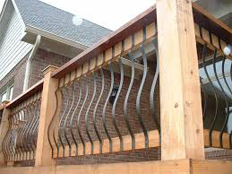 Replacing A Banister And Spindles Balusters Concrete Balusters Vinyl Railing Kit With Square
