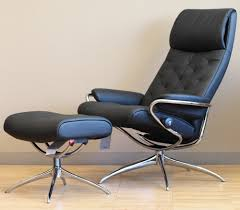 Black Leather Recliner Stressless Metro High Back Black Leather Recliner Chair By