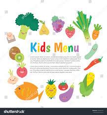 kids children meal menu vector template stock vector 342891509