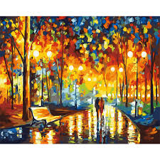 compare prices on acrylic paint wall mural online shopping buy unframed knife painting diy landscape oil painting paint by numbers kits acrylic art wall mural decals