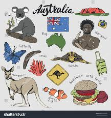 australia travel doodleshand vectoraustralian tradition