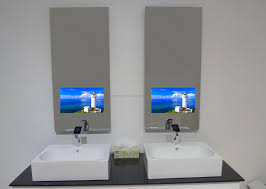 tv in the mirror bathroom bathroom new tv mirrors for bathroom home design ideas