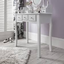 capri white dressing table mirror and stool set dresser ebay