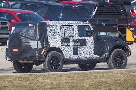 new jeep wrangler jl 2018 jeep wrangler jl timeline leaked production could start in