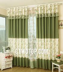 Country Style Curtains And Valances Fresh Green Floral Style Bedroom Country Curtains No Include Valance