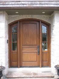 Exterior Wood Doors With Glass Panels by Solid Wood Front Door Door Slim Panel Craftsman Solid Wood