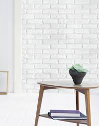 Self Stick Wallpaper by Soft White Brick Contact Paper Peel And Stick Wallpaper