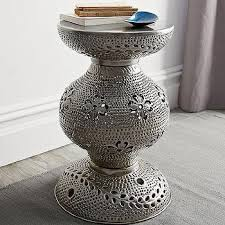round silver accent table silver accent table stylish tables metal for 14 fernandotrujillo com
