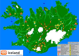 Iceland Map World Mountain Roads And F Roads Go Iceland