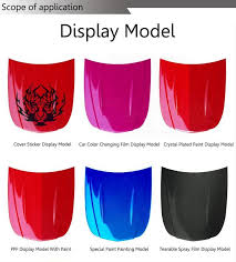 metal spray painting universal car vinyl film wrapping display