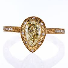 yellow gold engagement ring dino lonzano bas relief engagement ring 18k yellow gold semi