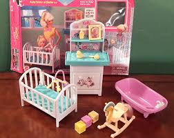 mattel kelly sister of barbie bedroom play set with rocking horse