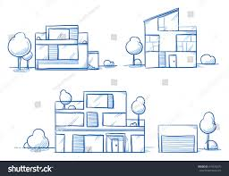 set different modern noble designer houses stock vector 410936275 set of different modern noble designer houses detached single family houses with gardens and
