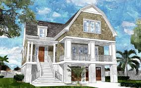 Shingle Style Home Plans Gambrel Roofed Shingle Style House Plan 15039nc Architectural