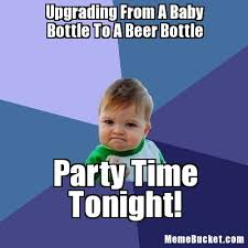Funny Beer Memes - upgrading from a baby bottle to a beer az meme funny memes
