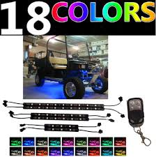 led light strips kit led custom golf cart lighting under glow neon lights kit for caddy