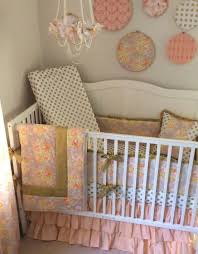 Gold Crib Bedding Sets 29 Best Coral Mint And Gold Baby Nursery Ideas Images On