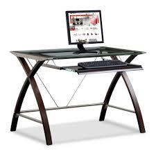Z Line Belaire Glass L Shaped Computer Desk Glass L Desk Staples Desk Ideas