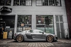 Audi R8 Matte Black - nardo grey audi r8 v10 brixton forged wheels