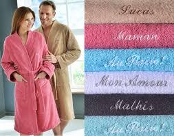 robe de chambre homme personnalisé peignoir de bain peignoir personnalisé becquet