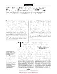 a novel type of hereditary motor and sensory neuropathy