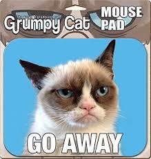 Go Away Meme - ata boy grumpy cat go away mouse pad grumpy cat
