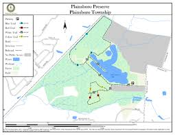 Map Of Middlesex County Nj Plainsboro Preserve New Jersey Trails Association