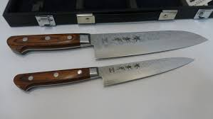 Case Kitchen Knives Sakai Takayuki Damascus 33layer Santoku U0026petty Knife Set 180 135mm