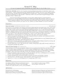 Insurance Broker Resume Template Sample Financial Advisor Resume Template Resume Builder