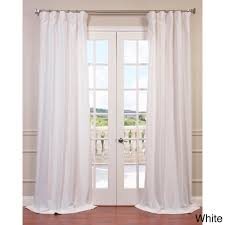 84 Inch Curtains Curtain Ruffled Curtain Panel Ruffle Bottom Blackout Panel White