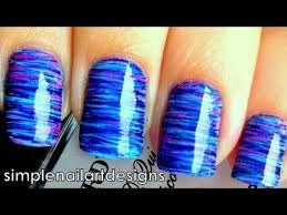 fan brush striped nail art tutorial youtube