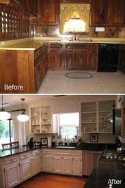 Ideas For Redoing Kitchen Cabinets - from to great a tale of painting oak cabinets