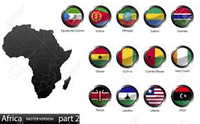 Flags Of African Countries High Detailed National Flags Of African Countries Clipped In
