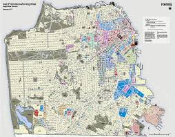 san francisco land use map san francisco map districts
