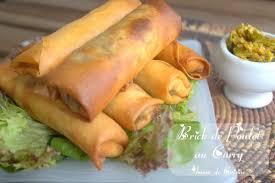 cuisine marocaine brick brick de poulet au curry recette en amour de cuisine