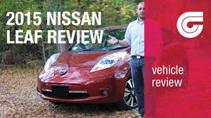 nissan leaf electric car review 2015 nissan leaf car review youtube