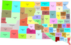 map of south dakota counties south dakota counties and county seats