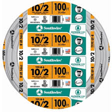 southwire 100 ft 10 2 gray solid cu uf b w g wire 13056728 the