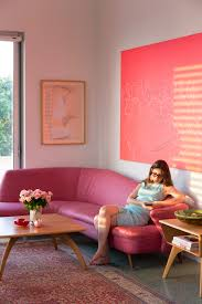 Colorful Furniture by Colorful Apartment In Tel Avid Adorned With Vintage Furniture