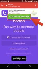 delete account android delete badoo account on website android app ios app 2018