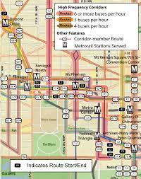 washington dc metrobus map planitmetro metrobus high frequency corridors map draft