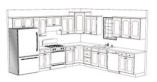 kitchen blueprint layout room design decor fresh to kitchen