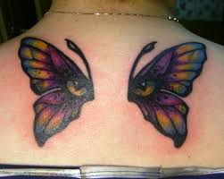 butterfly eye on back tattoos ideas for