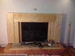 cover brick fireplace with wood panels for home justawesome