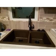 Granite Kitchen Sinks Mocha Eodb33229 1 Basin Composite Granite Kitchen Sink
